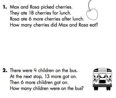 1st Grade Story Problems | Math Minds