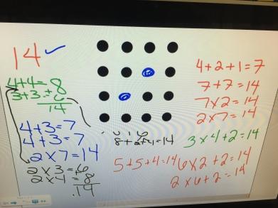 The beginning of arrays in 3rd grade math minds